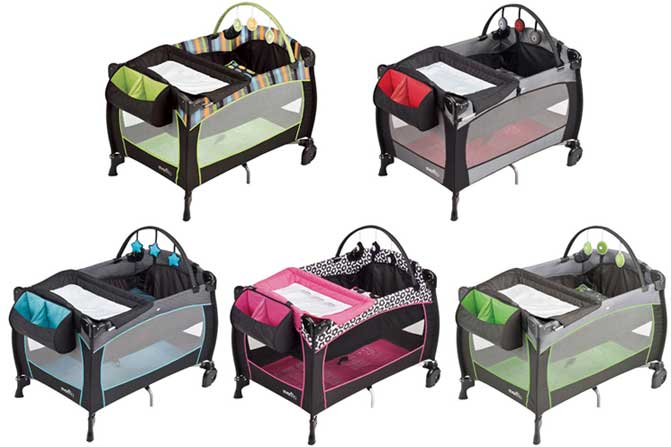 evenflo portable babysuite playard how to close