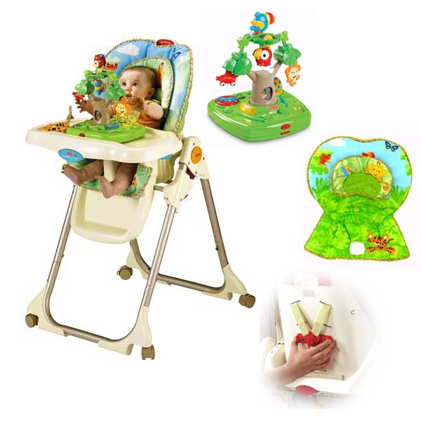 fisher price rainforest high chair review entertaining